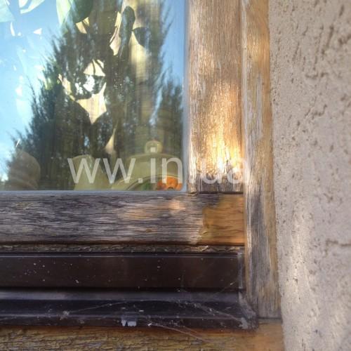 Полное восстановление ЛКП: перекраска дубовых окон с заменой силикона